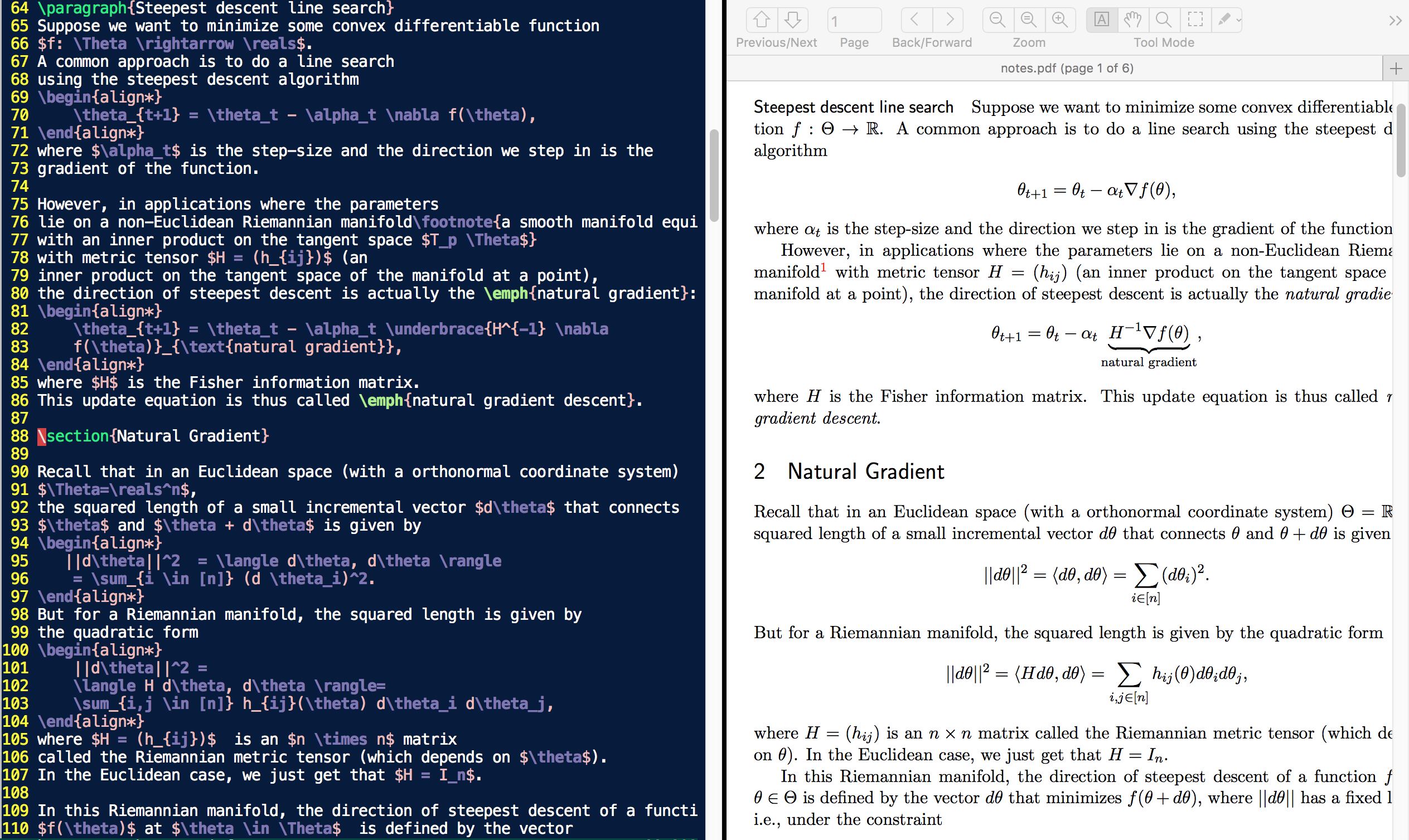 My LaTeX Setup - vim, Skim, and latexmk · topics